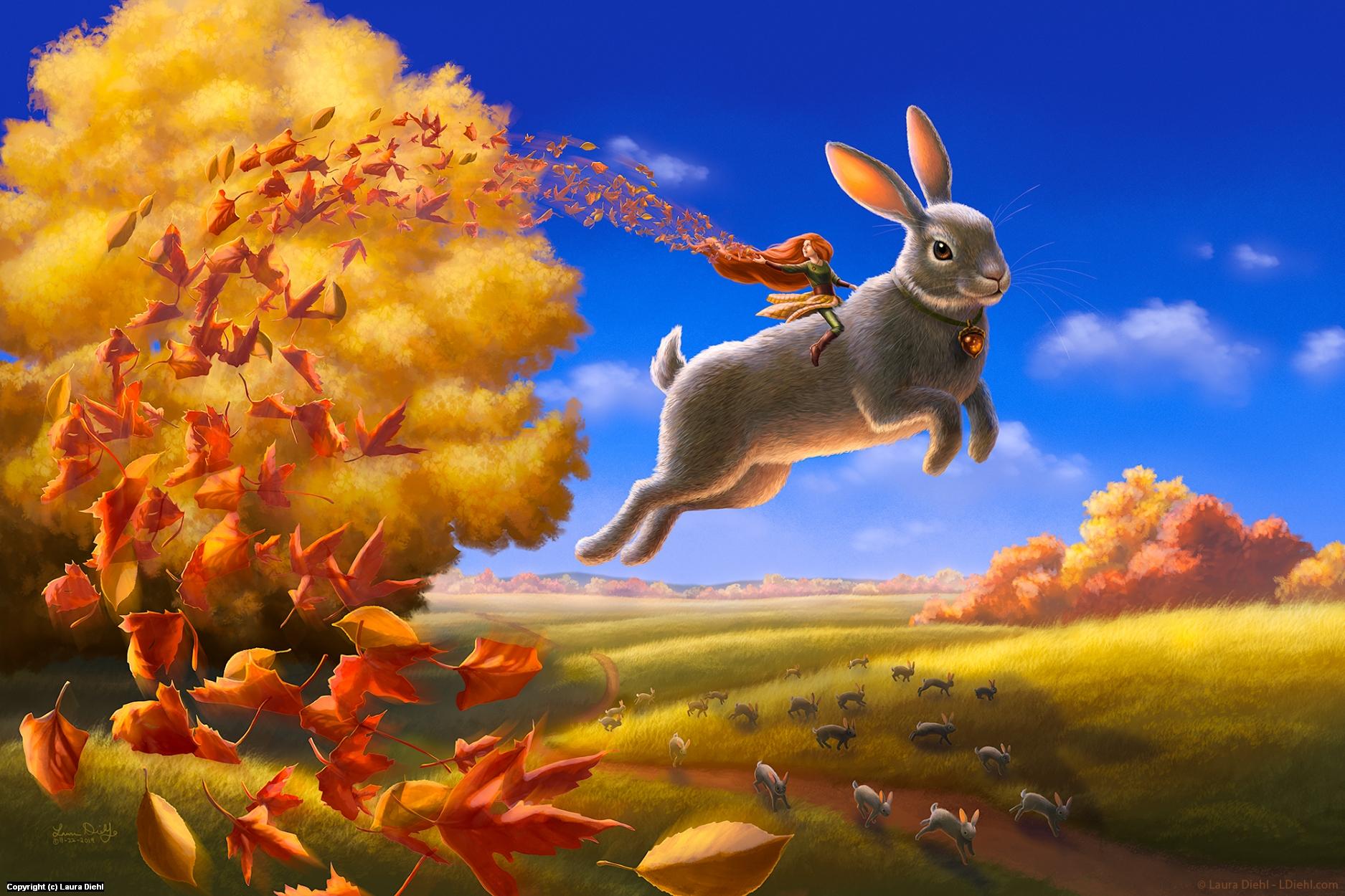 Autumn Leap Artwork by Laura Diehl