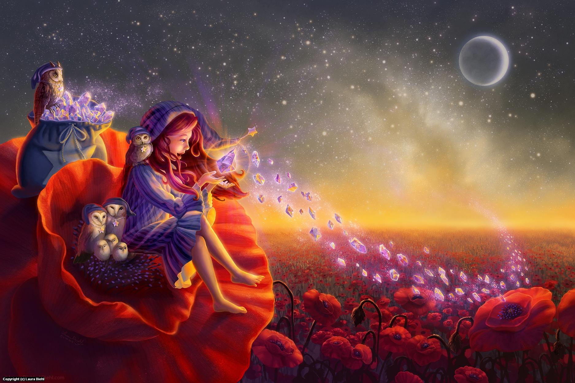 Poppy Lullaby Artwork by Laura Diehl