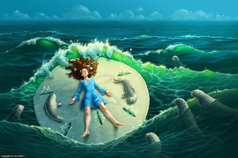 Sand Dollar Artwork by Laura Diehl
