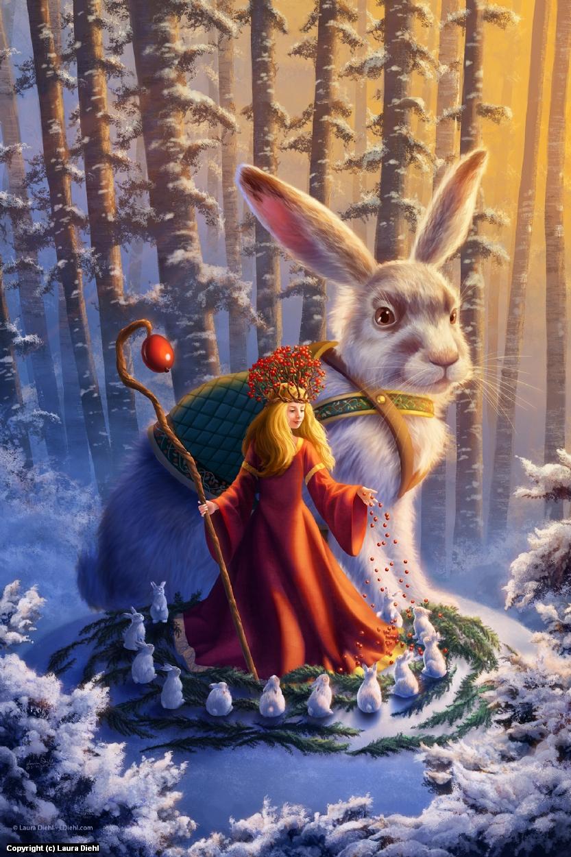 Snowberry & Hare Artwork by Laura Diehl
