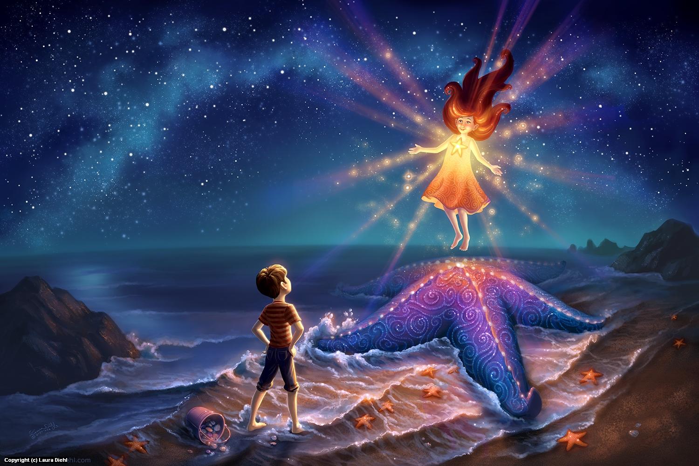 Starfish Shore Artwork by Laura Diehl