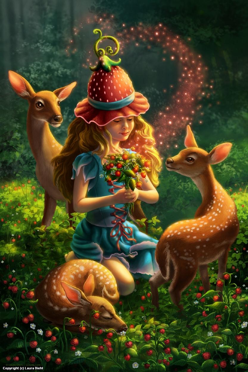 Strawberry Witch Artwork by Laura Diehl