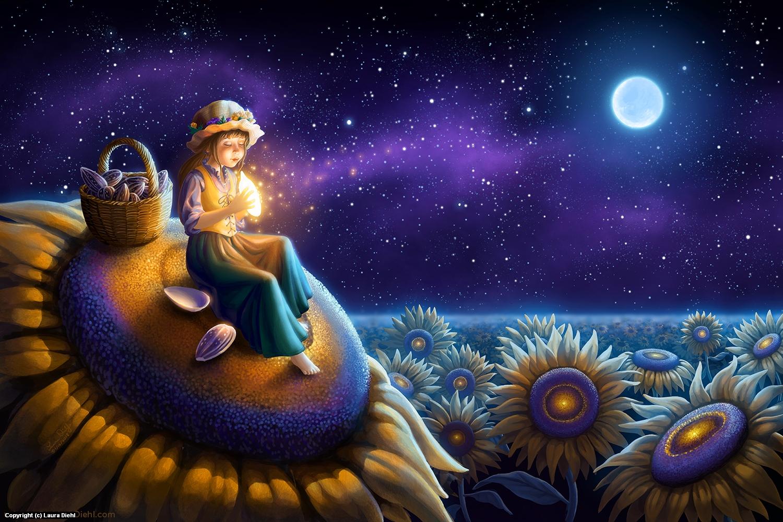 Sunflower Wish Artwork by Laura Diehl