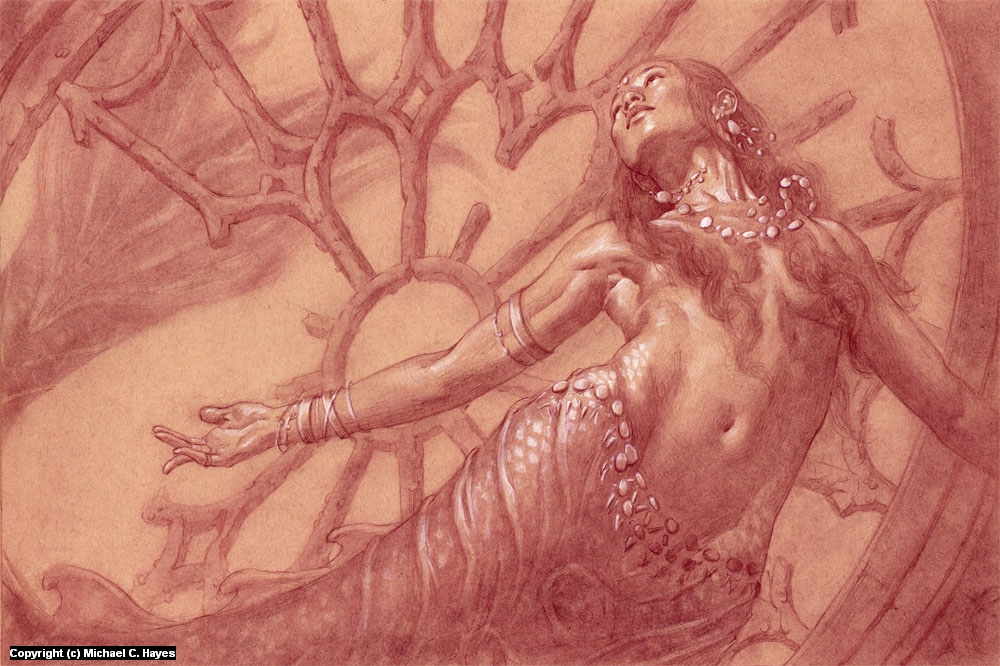 Mermaid Artwork by Michael C. Hayes