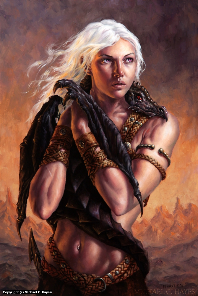 Mother of Dragons Artwork by Michael C. Hayes