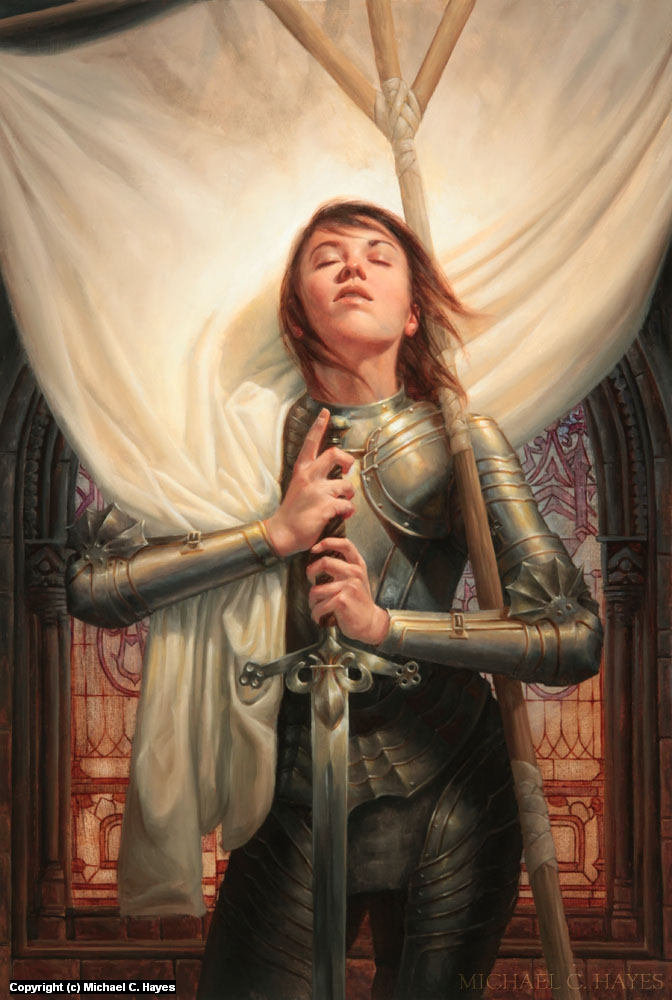 Joan of Arc Artwork by Michael C. Hayes