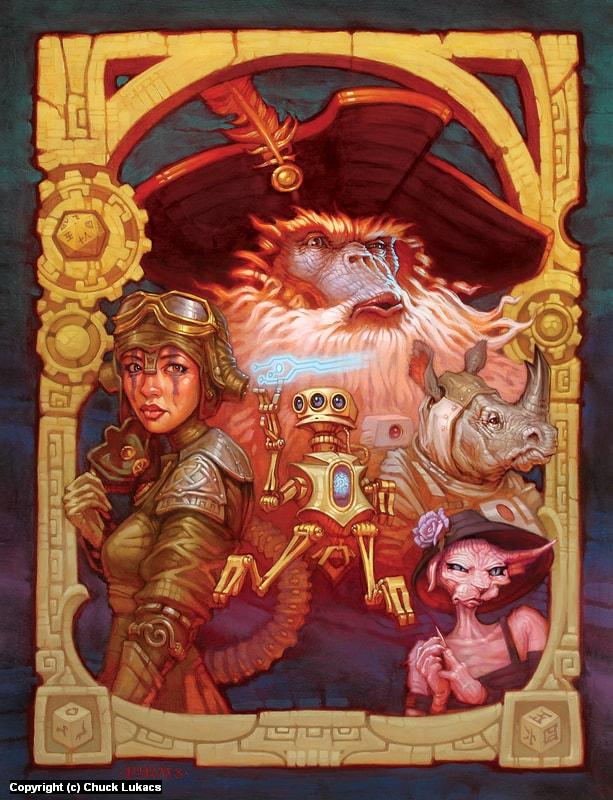 Capt. Sashquatch & the Fantasy Genetists Artwork by Chuck Lukacs