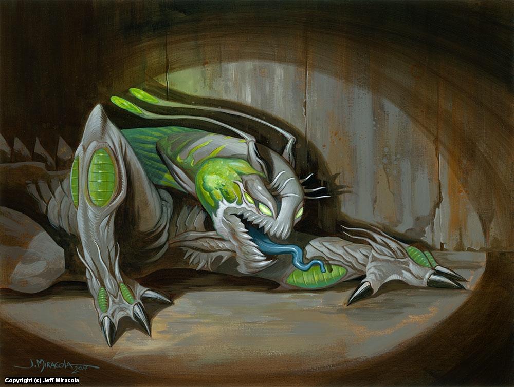 Prowling Alien Artwork by Jeff Miracola