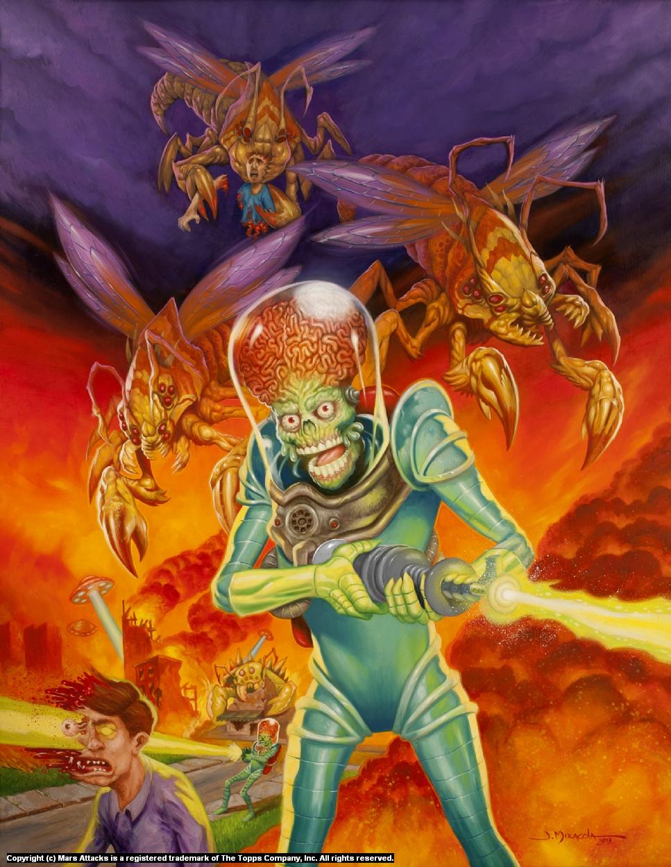 Mars Attacks! Artwork by Jeff Miracola