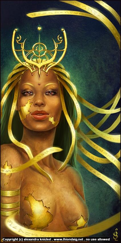 Golden Artwork by Alexandra Knickel