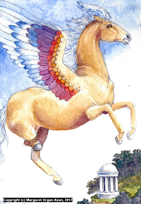 Rainbow Pegasus Artwork by Margaret Organ-Kean