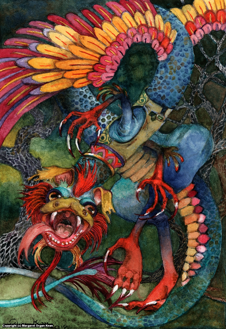 Jabberwocky Artwork by Margaret Organ-Kean