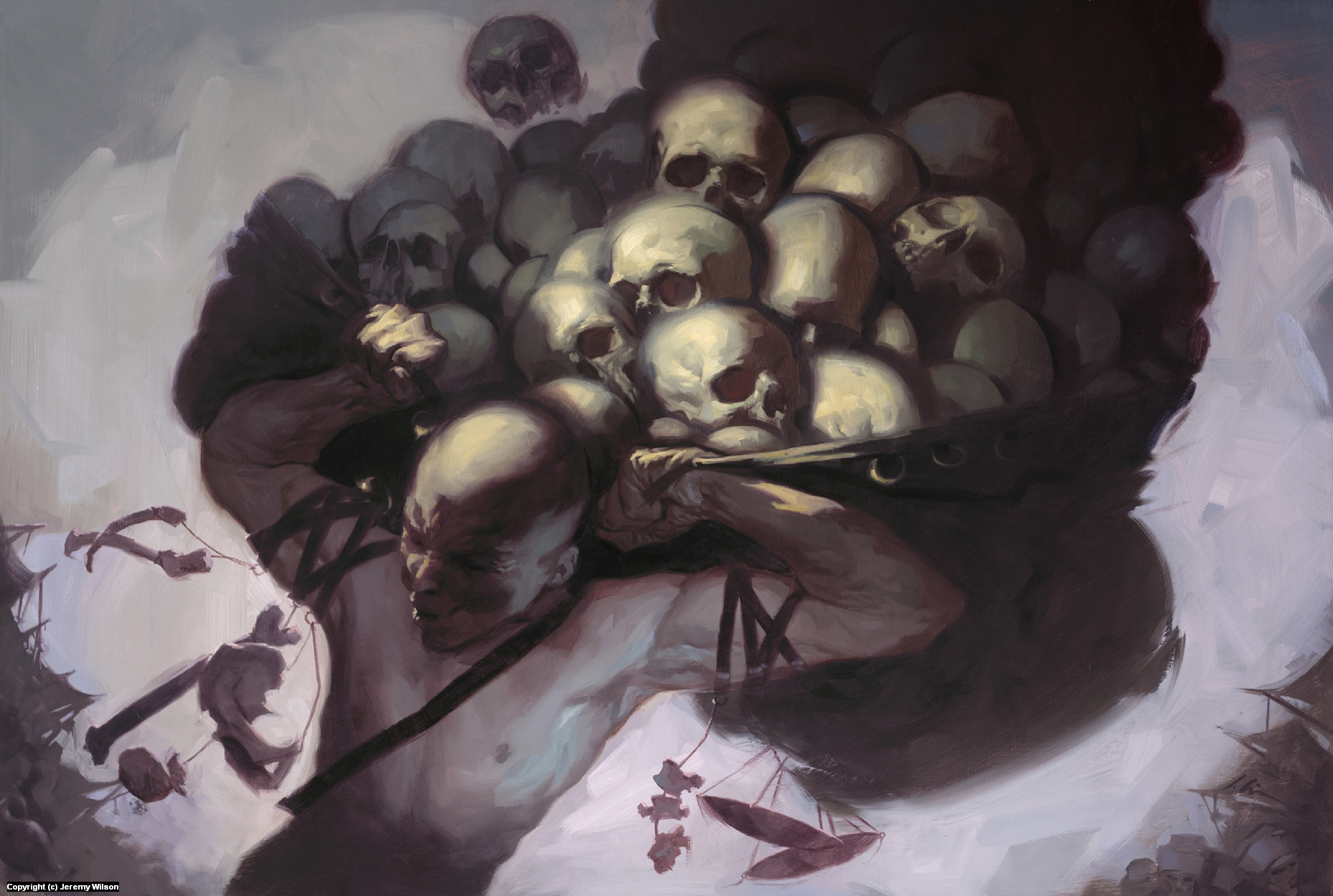 Skull Merchant Artwork by Jeremy Wilson