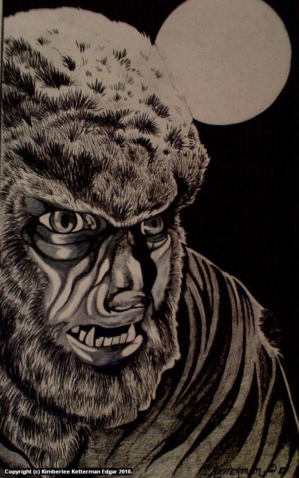 Werewolf Artwork by Kimberlee  Edgar