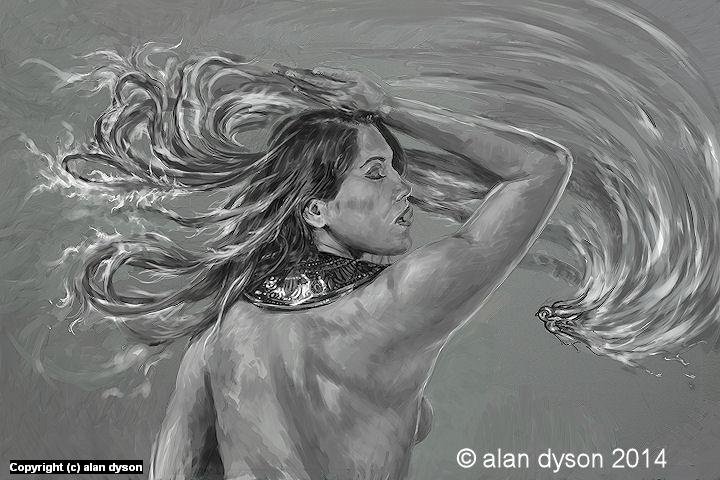 Girl on Fire Artwork by Alan Dyson