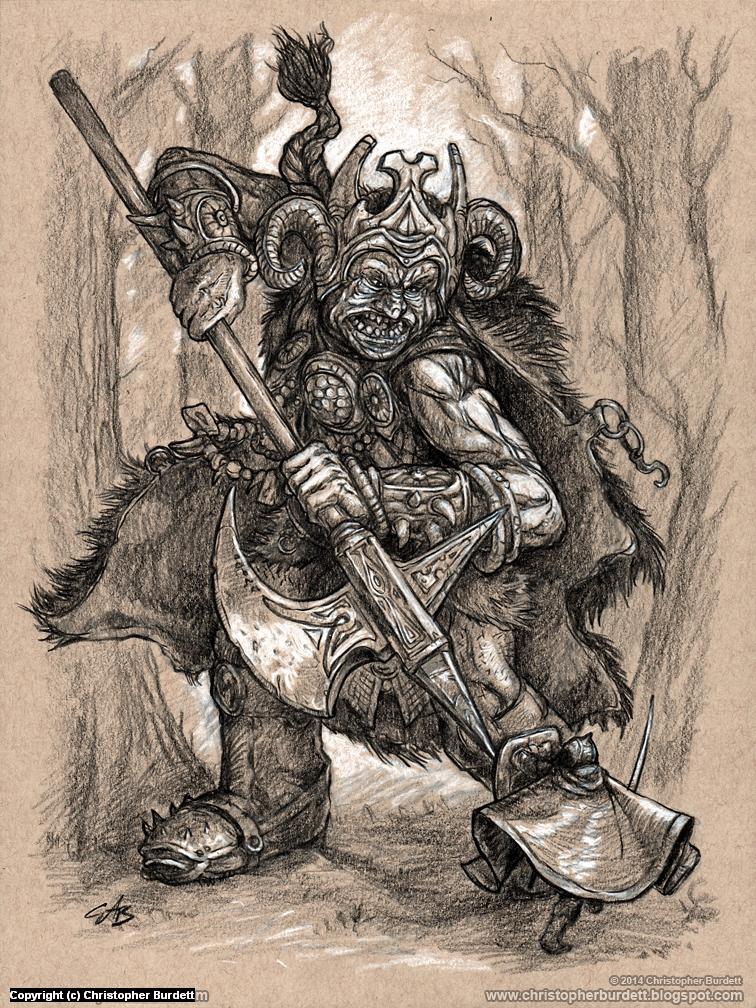 Monstrous Encounter  Artwork by Christopher Burdett