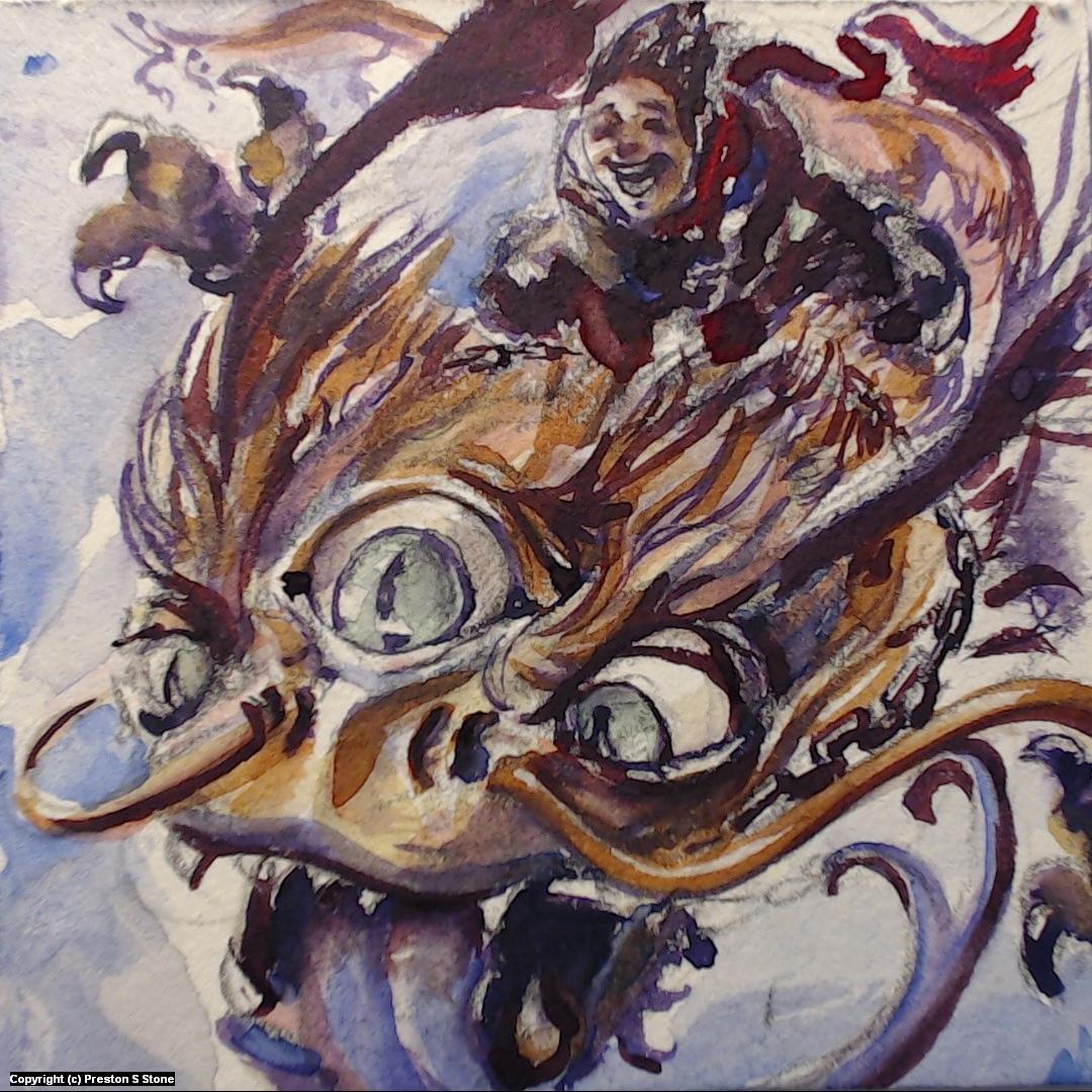 Let's Ride a Dragon! Artwork by Preston Stone