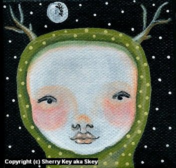 Child Nocturnal Artwork by Sherry Key