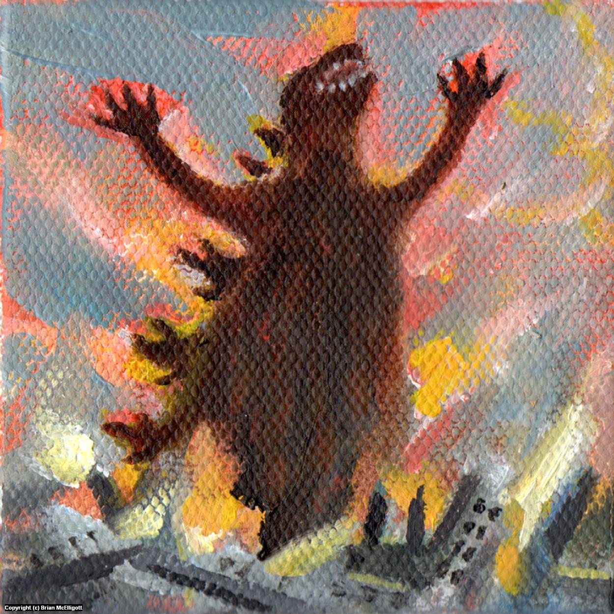 Destroy All Monsters 2 Artwork by Brian McElligott