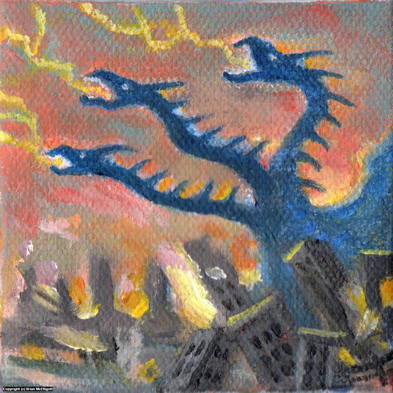 Destroy All Monsters 3 Artwork by Brian McElligott