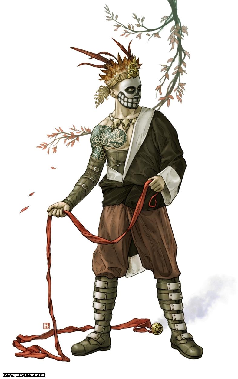 Skull Tribe Artwork by Herman Lau
