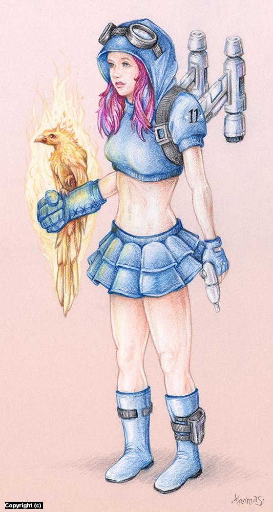 Rocketgirl Artwork by chad thomas