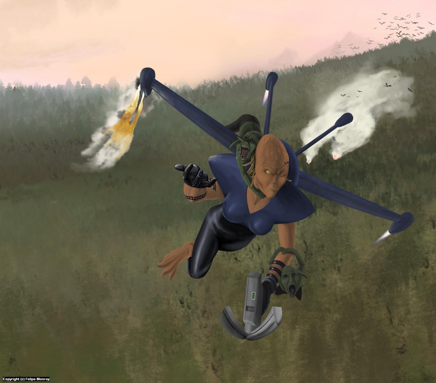 Flying Troubles Artwork by Felipe Monroy