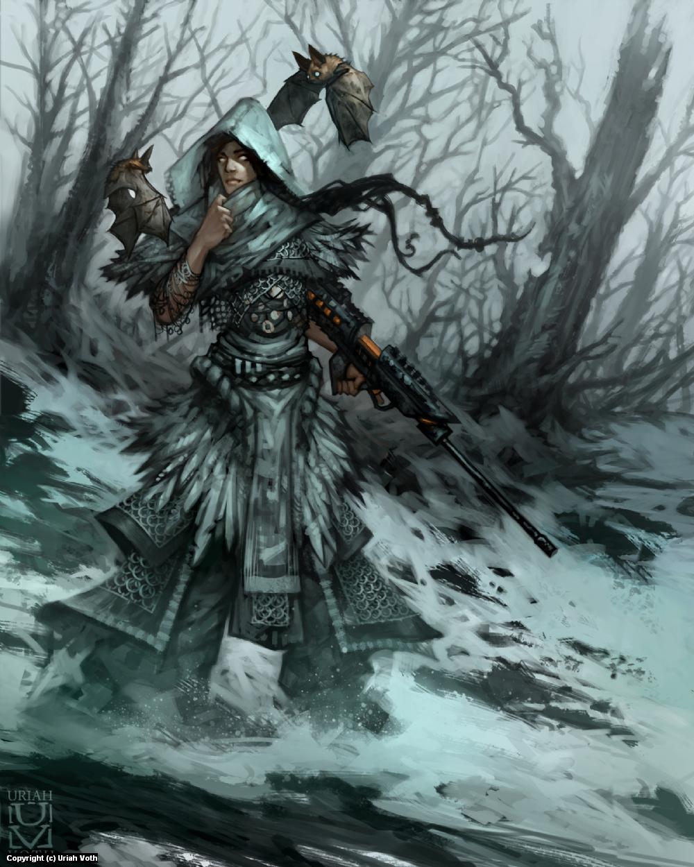 Echo the Blind Sniper Artwork by Uriah Voth
