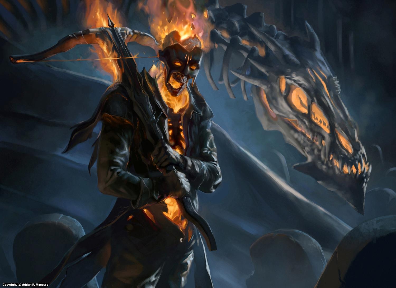The Boneyard Warden Artwork by Adrian Massaro