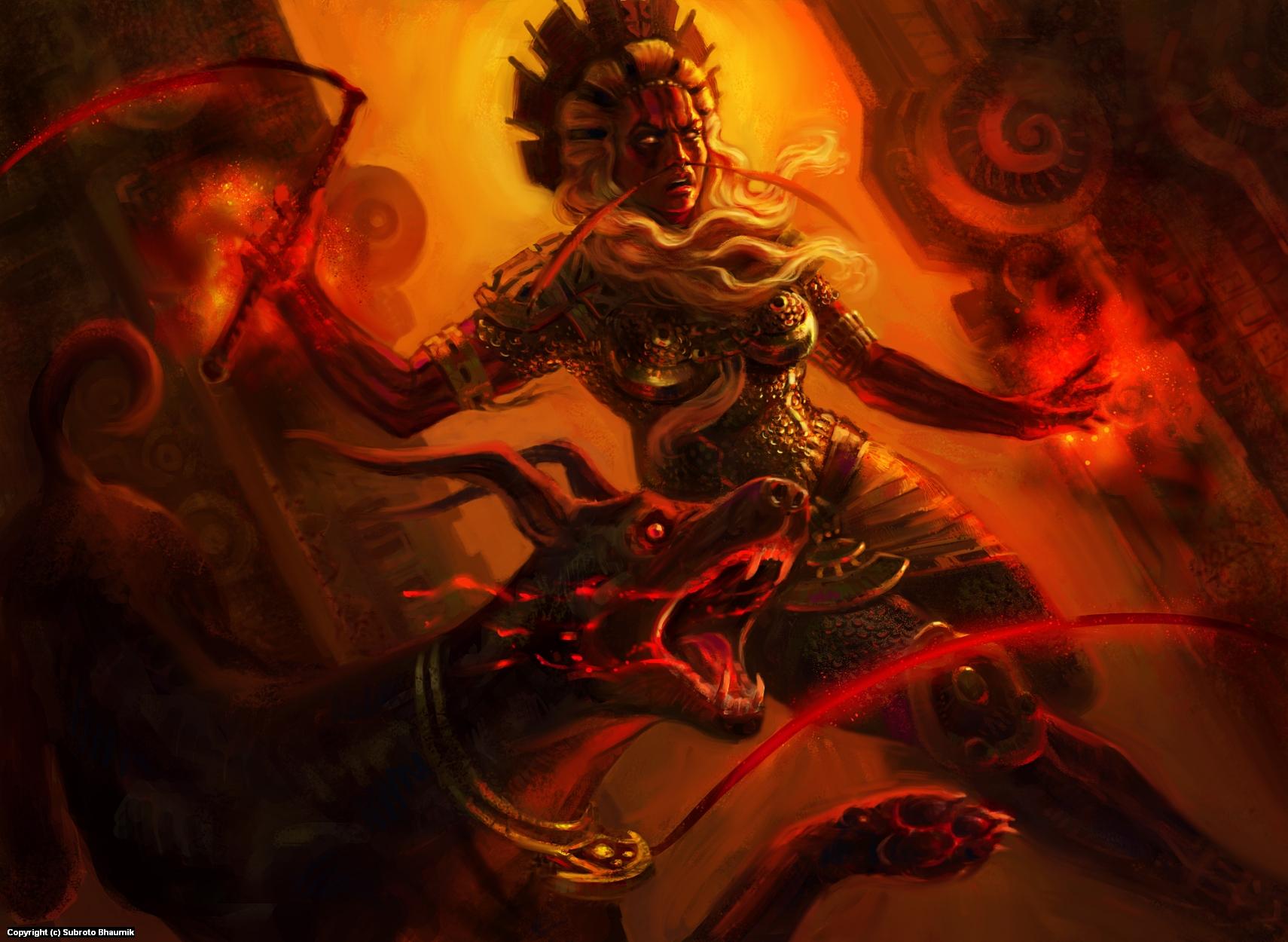 Pyro princess illustration Artwork by Subroto Bhaumik