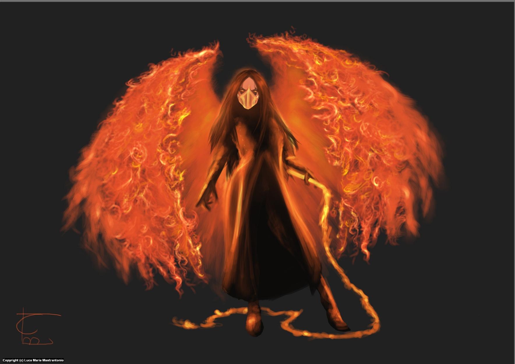 Angel of Fire Artwork by Luca Maria Mastrantonio