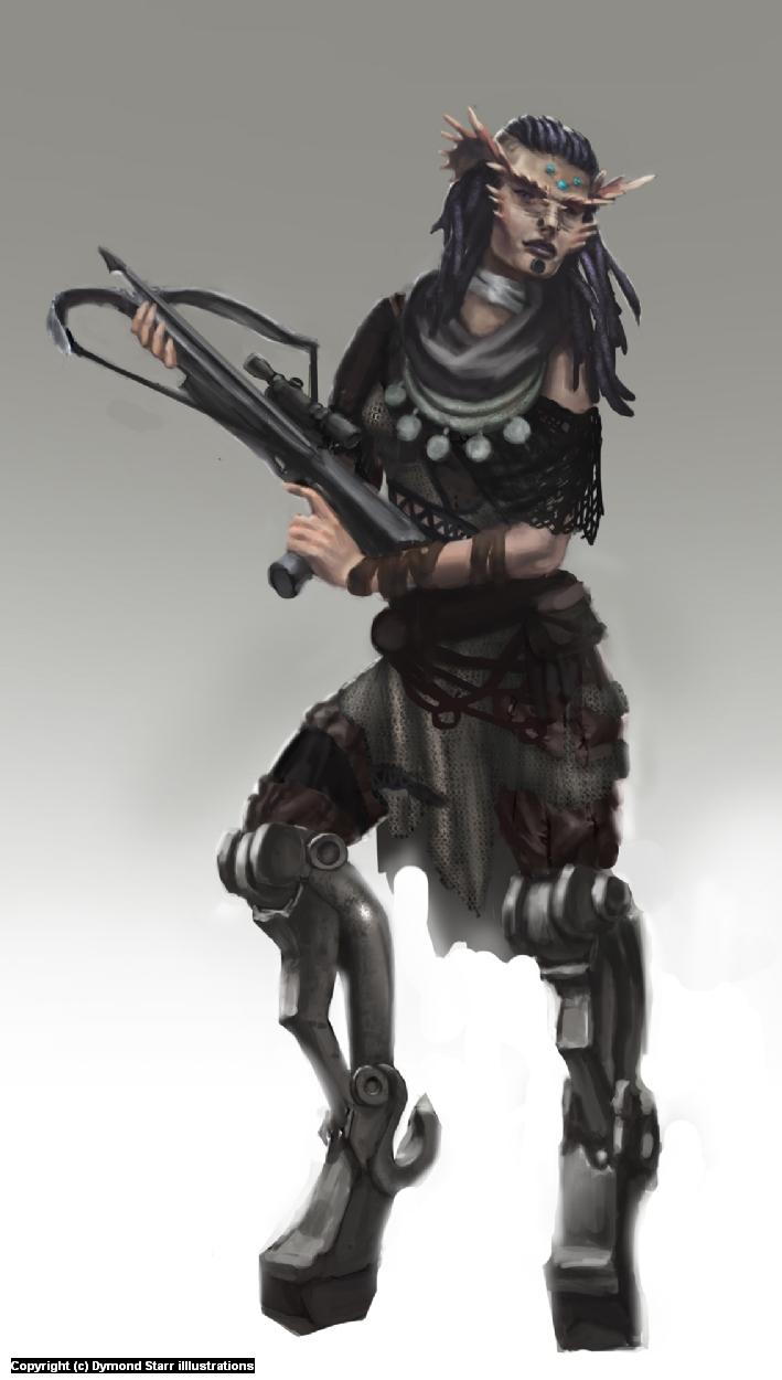 Ki, Sniper Marksmen of the Resitance. Artwork by Dymond Starr Boutte'