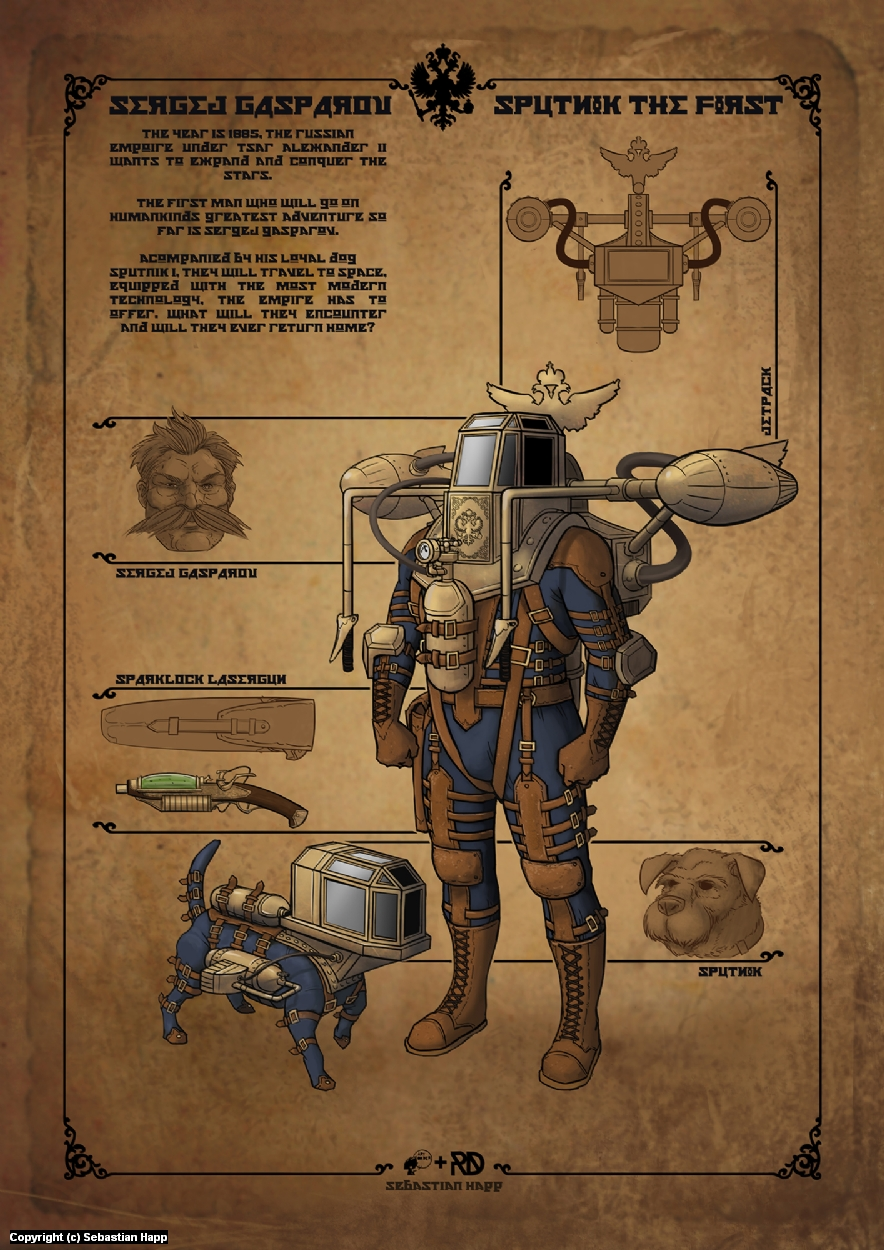 Sergej Gasparov - Character Design Artwork by Sebastian Happ