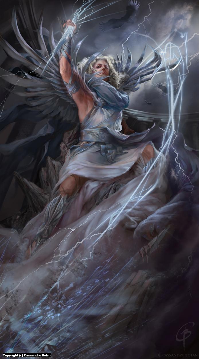 Goddess Zeus Artwork by Cassandre Bolan