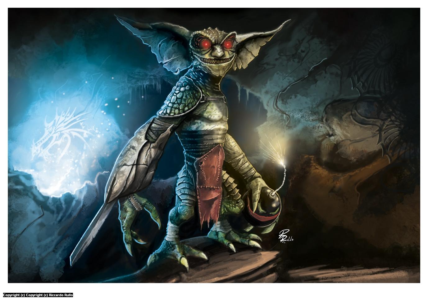 Goblin! Artwork by Riccardo Rullo
