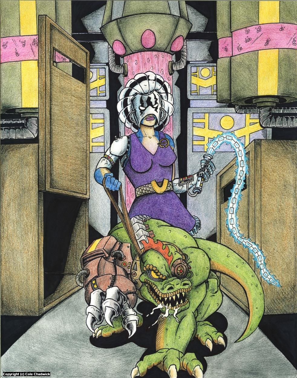 Cyber Dino Artwork by Cole Chadwick