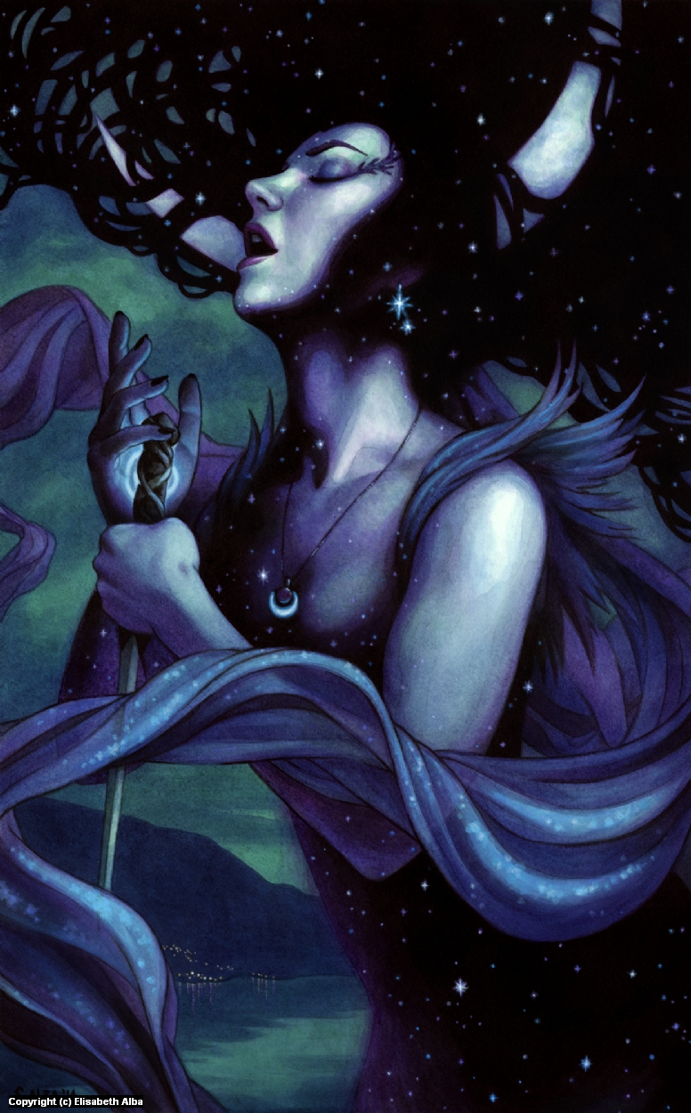 Astrifiammante, the Queen of the Night Artwork by Elisabeth Alba
