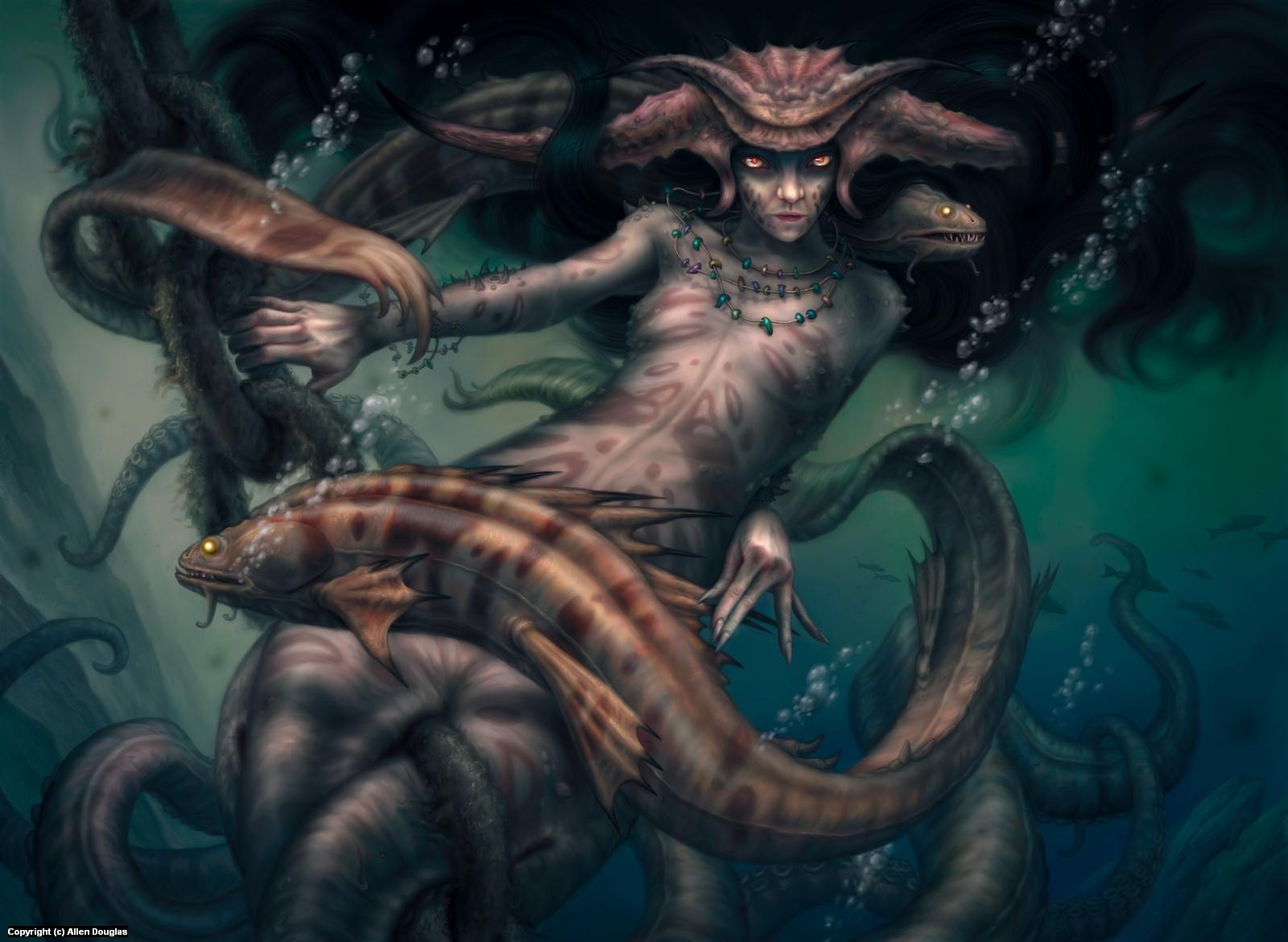 Deep Witch Artwork by Allen Douglas