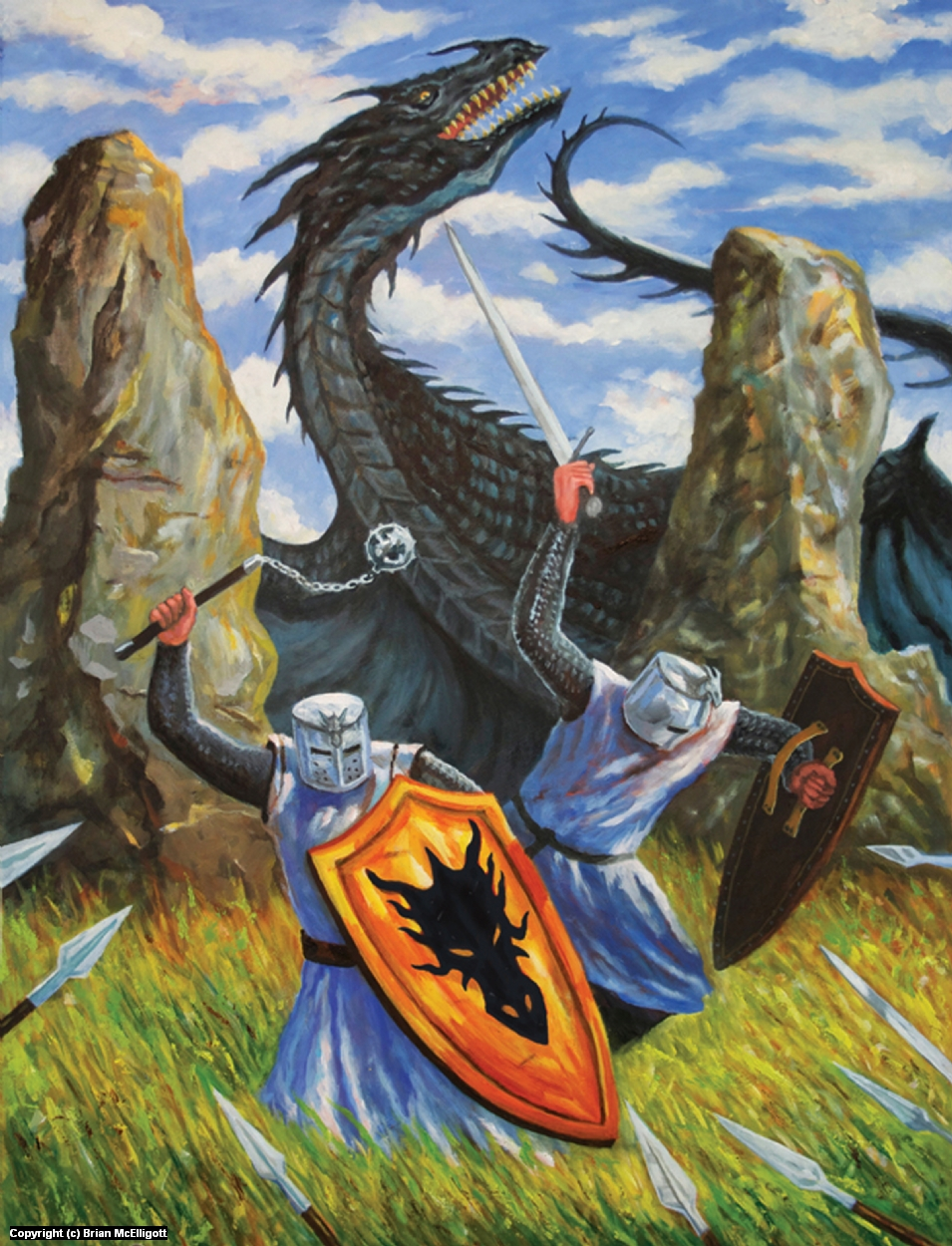 Brotherhood of the Dragon Artwork by Brian McElligott