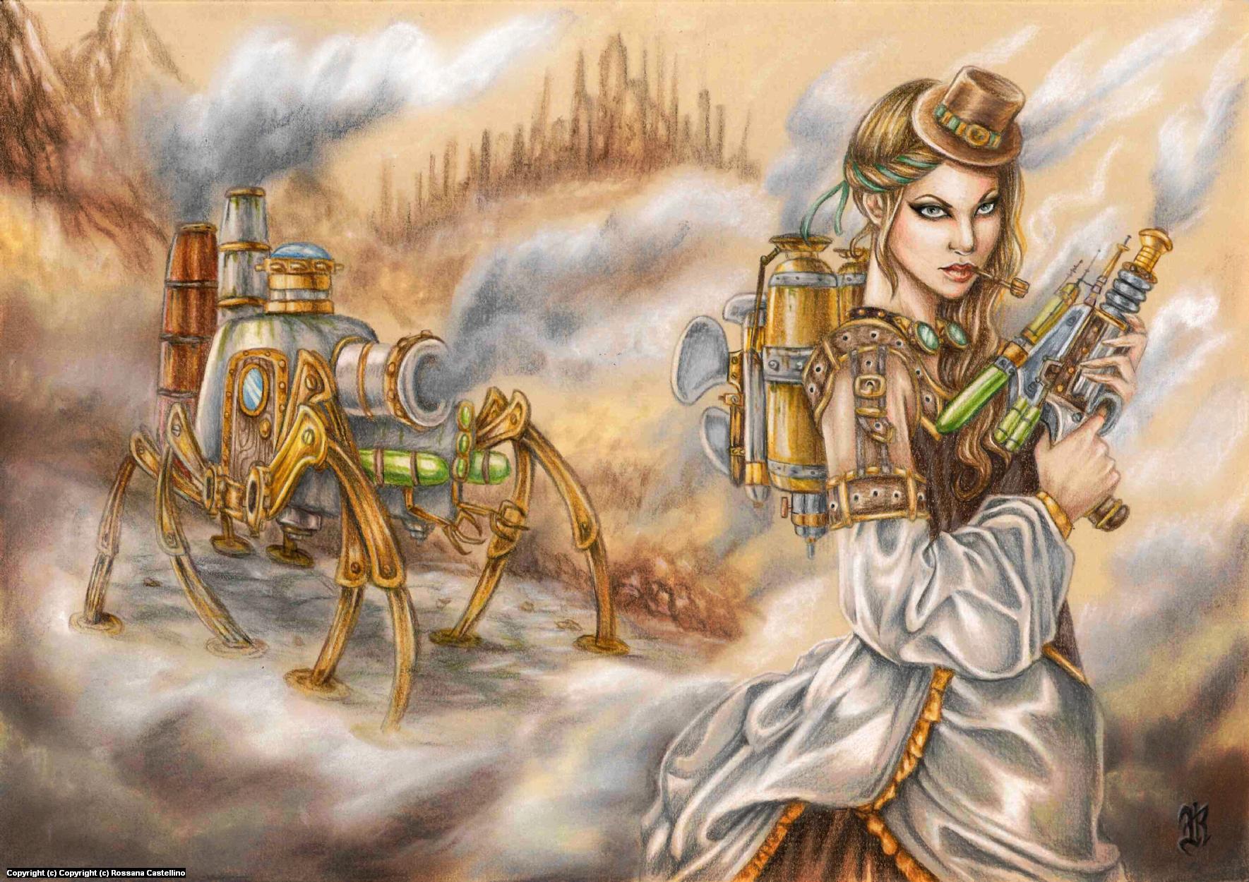 Steam Invasion Artwork by Rossana Castellino