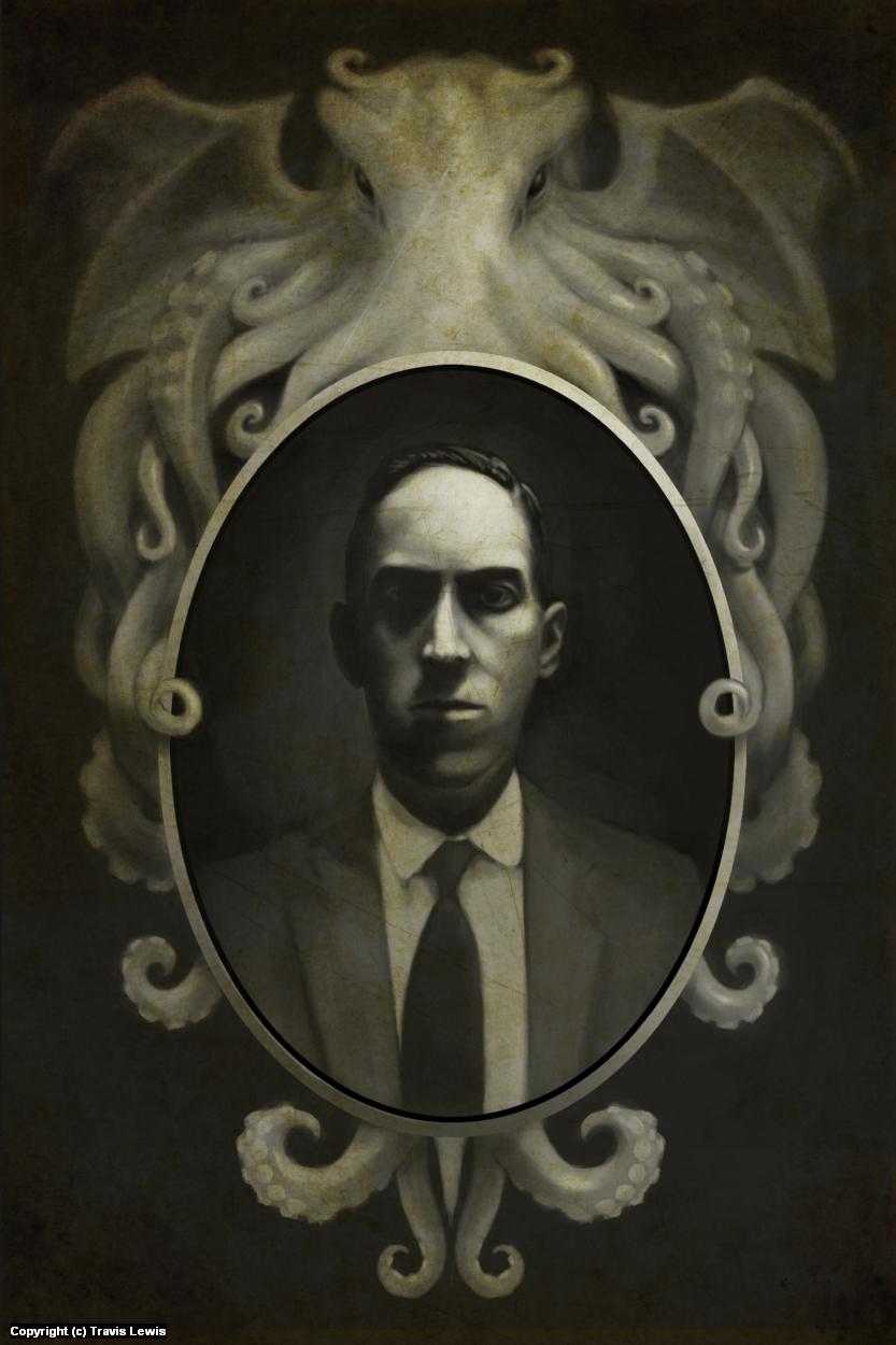 H.P. Lovecraft Artwork by Travis Lewis