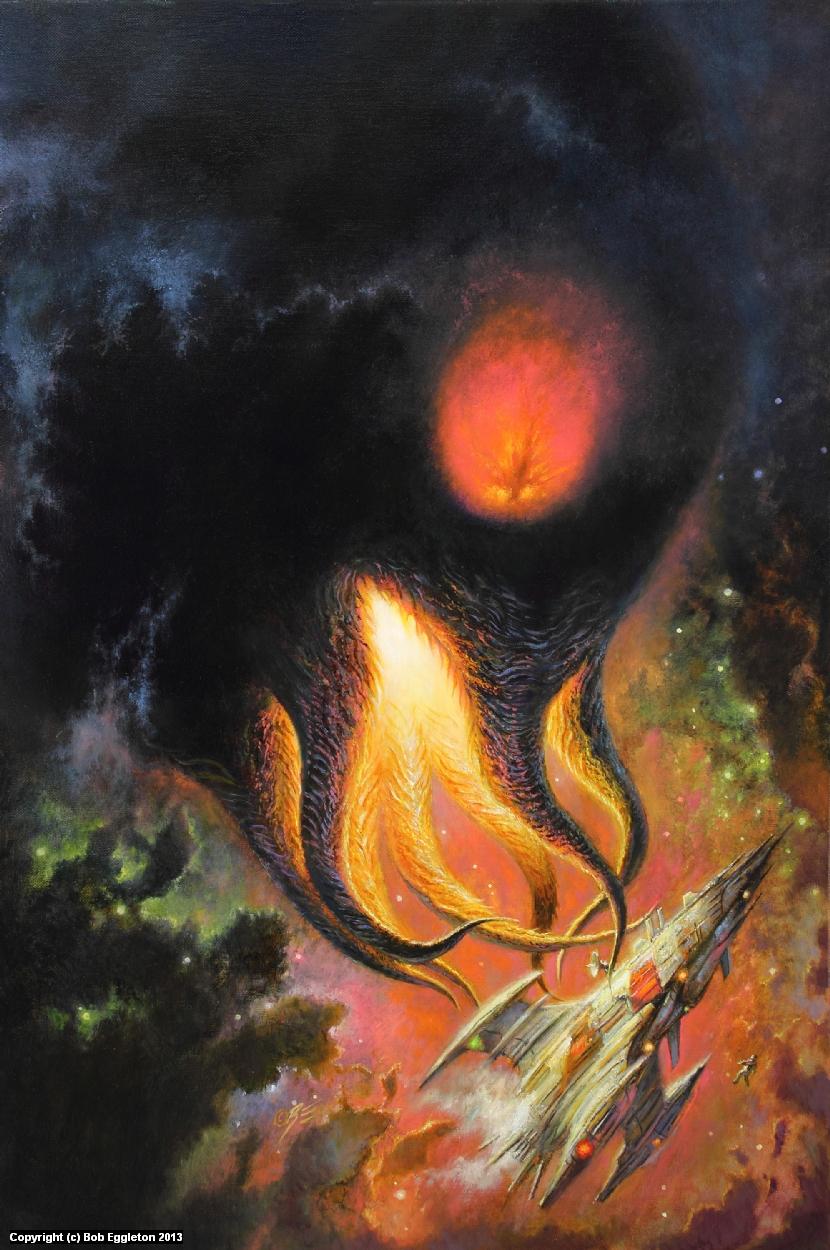 IN SPACE NO ONE CAN HEAR YOU SCREAM Artwork by Bob Eggleton