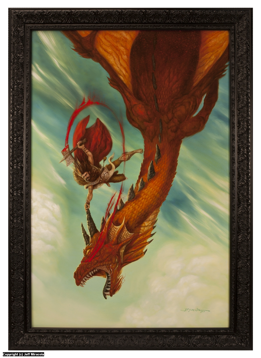 Dragon Dive Artwork by Jeff Miracola