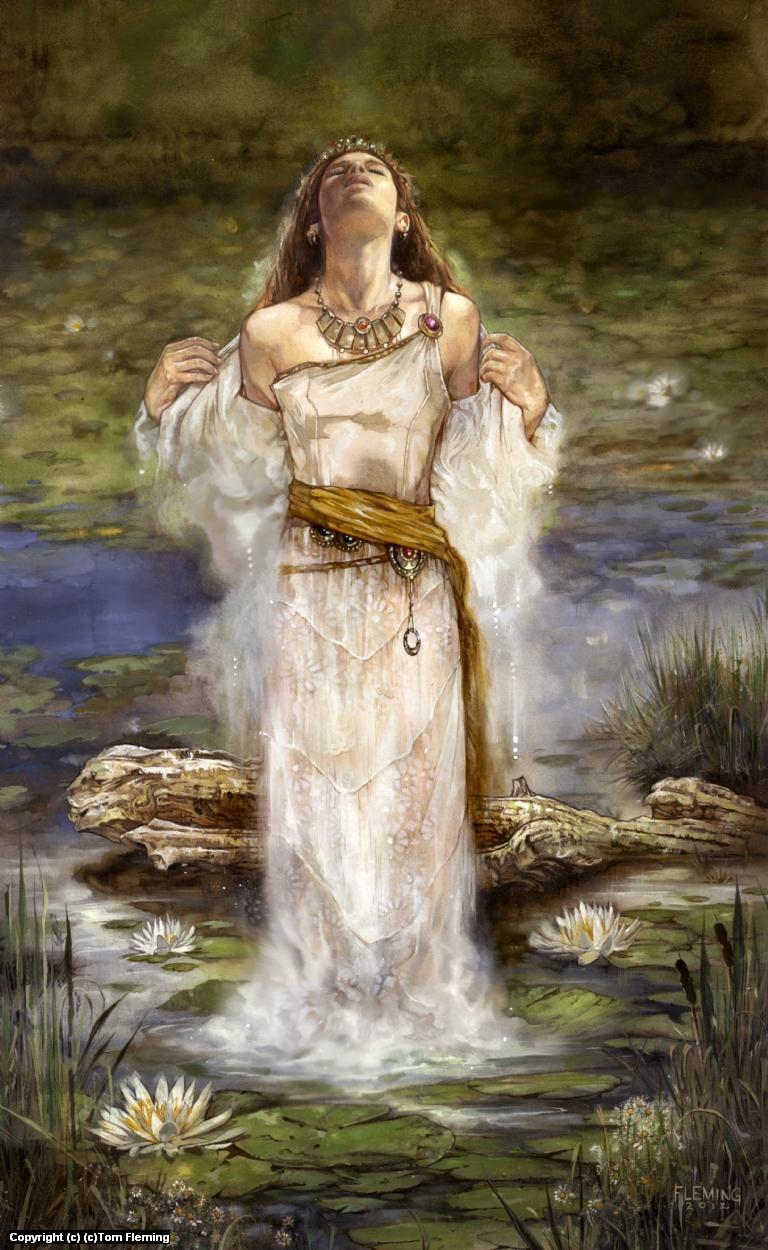 Ophelia Artwork by Tom Fleming