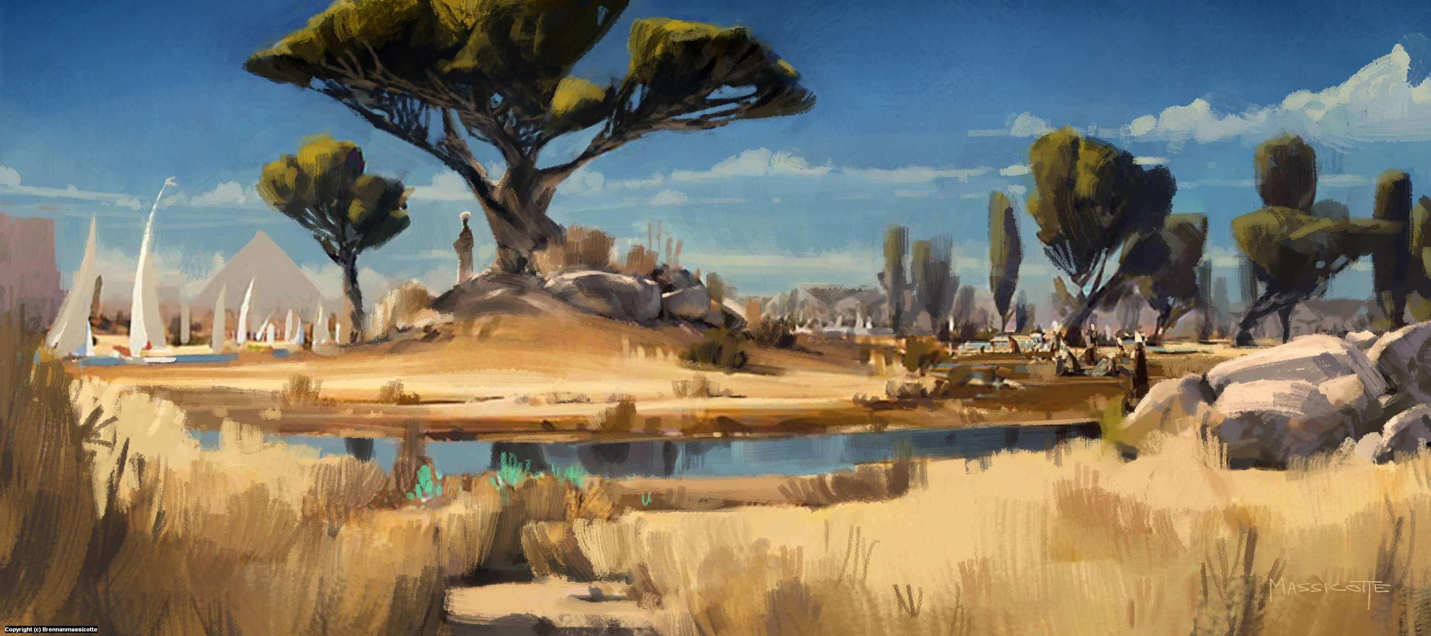 Ancient Nile Artwork by Brennan Massicotte