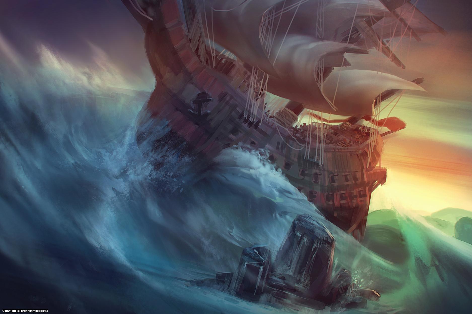 Stormy Seas Artwork by Brennan Massicotte