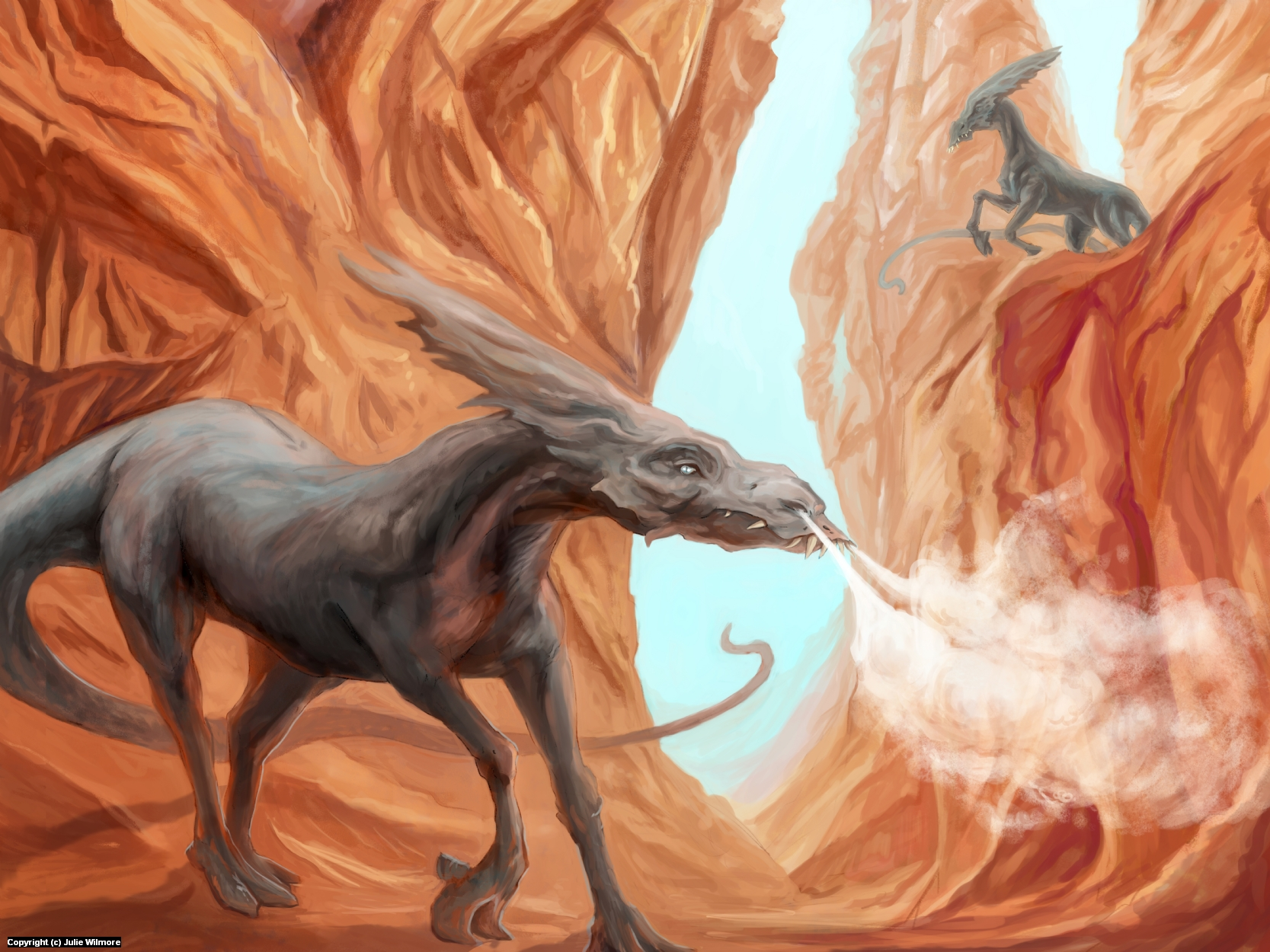 Palimoor Rivalry Artwork by Julie  Wilmore