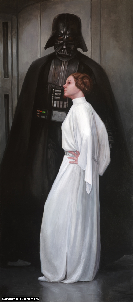Annakin's Daughter (Arrangement in Black and White) Artwork by Drew Baker