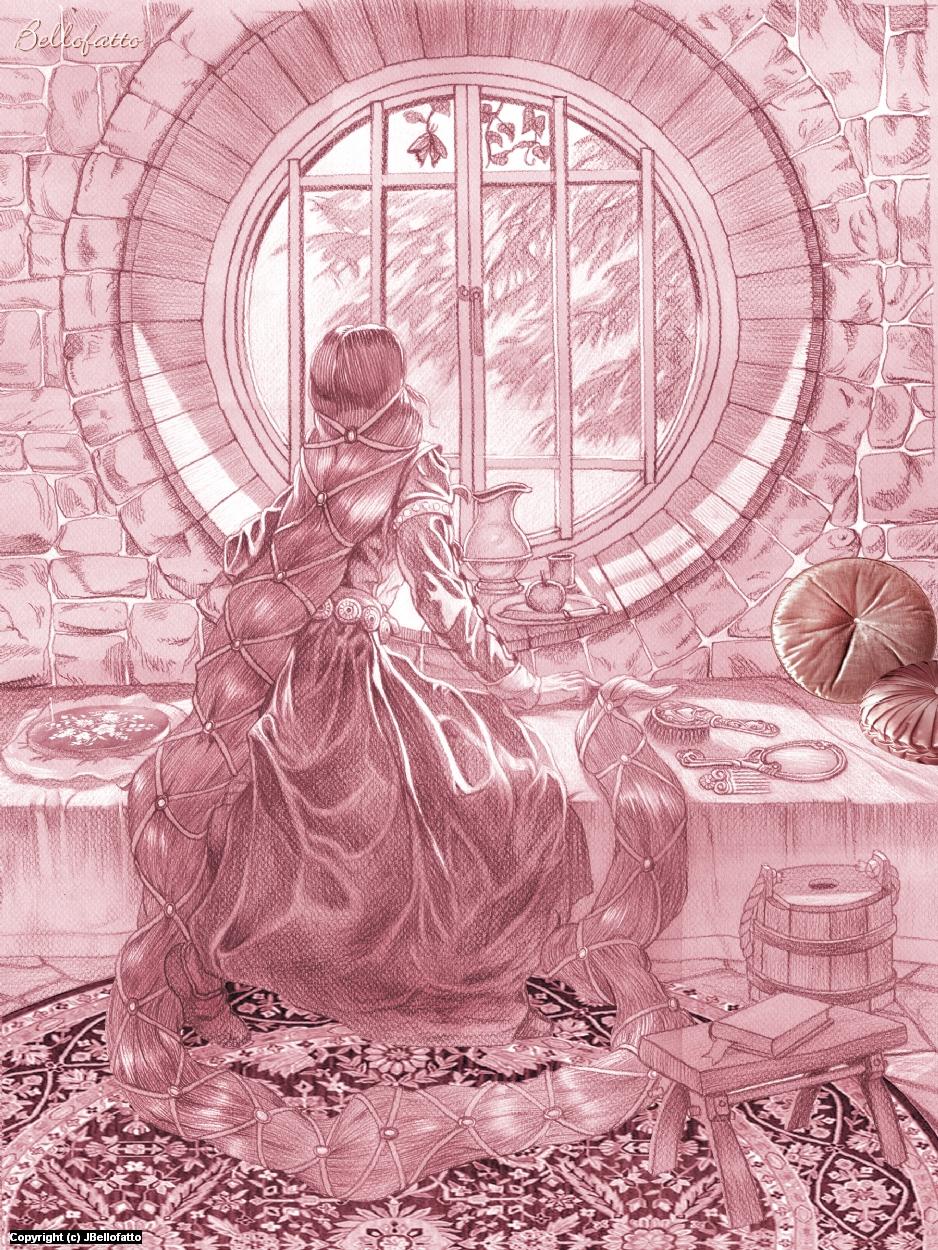 Rapunzel Artwork by Joseph Bellofatto