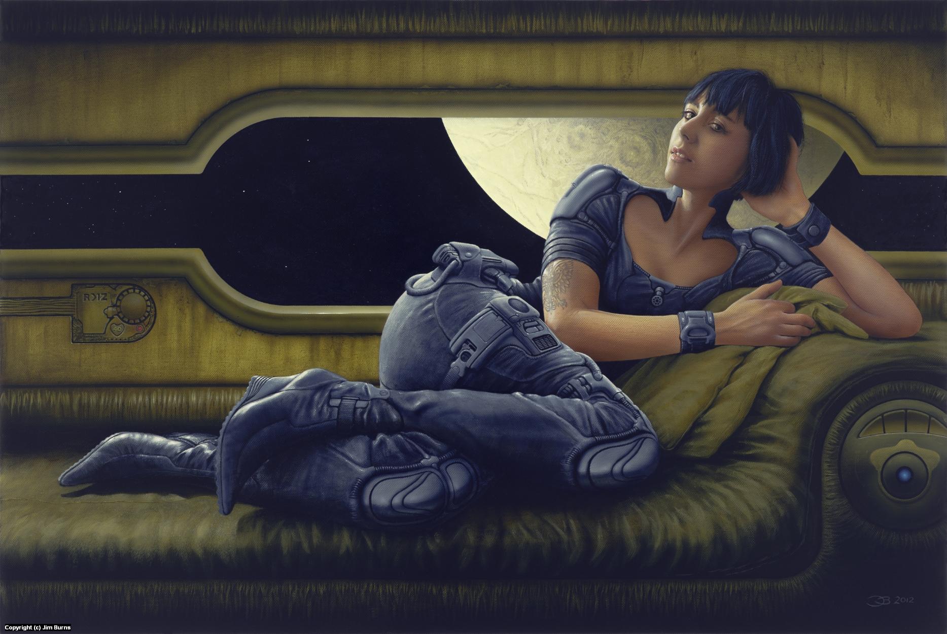 Portrait of Izabella Skrzyszewska  Artwork by Jim Burns